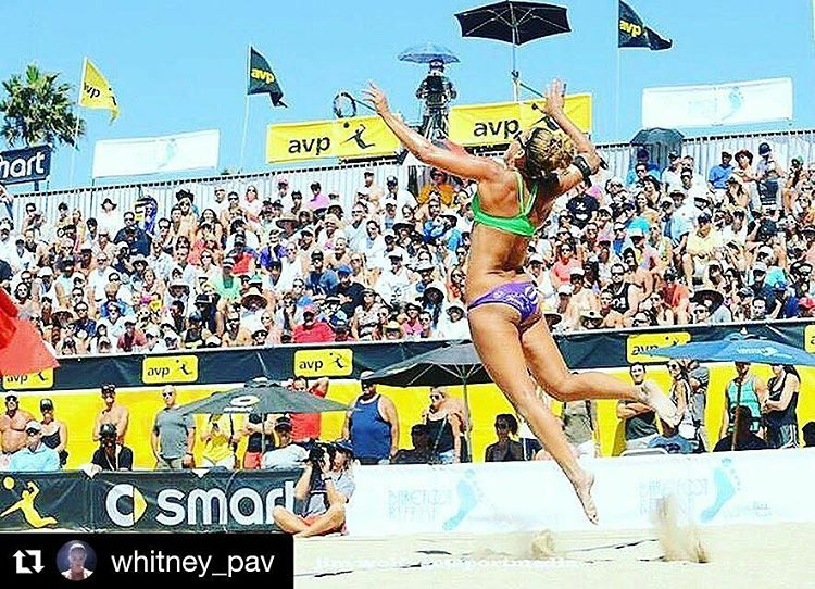 If you're in Manhattan Beach this weekend go check out @whitney_pav and @adowdy11 kill it on the beach volleyball court! Good luck ladies! #getoutside #beachvolleyball #avp2016 #avpstrong #manhattanbeach #graniterocx #outdoorsrocx