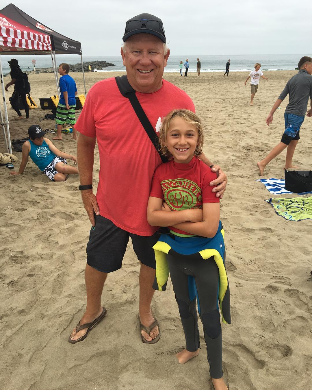 Teamrider, Benjamin and Co-Owner of Newport Surf Camp, Jerry Elder.  Great Guy and Great Surf Camp!  #bbr #bbrsurf #bbrsurfwear #buccaneerboardriders #teamrider #benjaminstone #newportsurfcamp #28thstreet #newportbeach