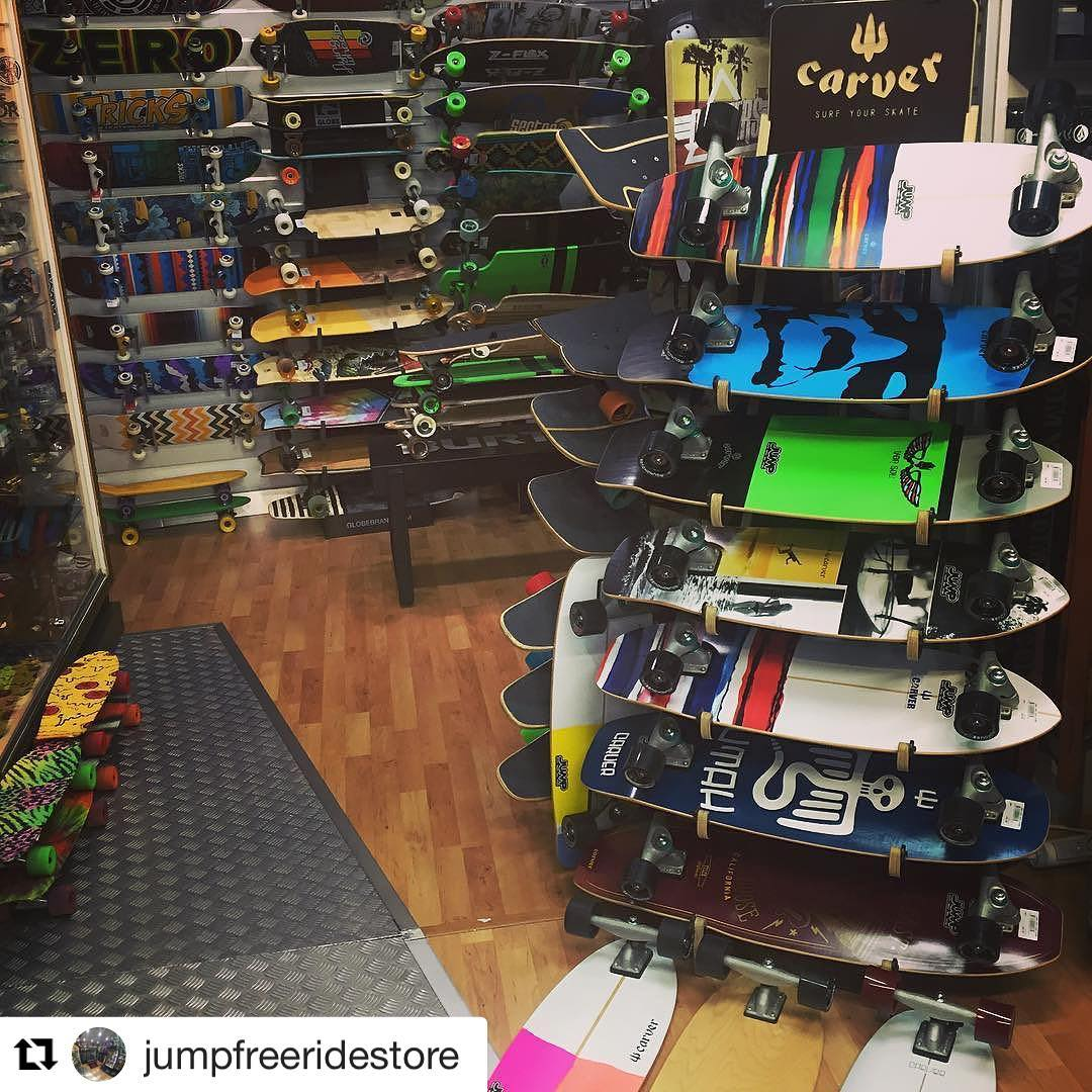 #Repost @jumpfreeridestore (via @repostapp) ・・・ New Surf Skates from @carverskate @jumpfreeridestore