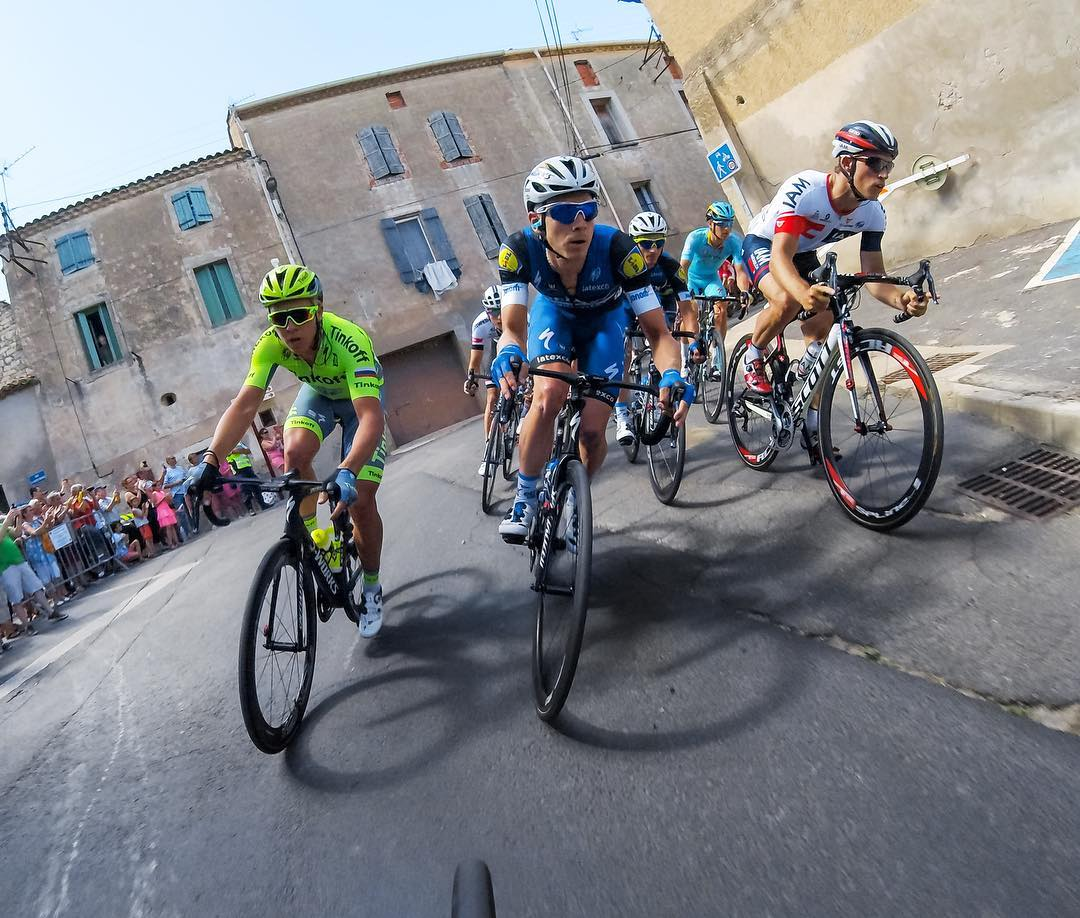 #GoPro Featured Photographer on location at @leTour: @jweiand  How I got the shot: Together with the #GoPro ground crew mounting cameras at the start of Stage 4, Samur to Limoges, we set cameras to 0.5 second time-lapse mounted with our pro saddle...