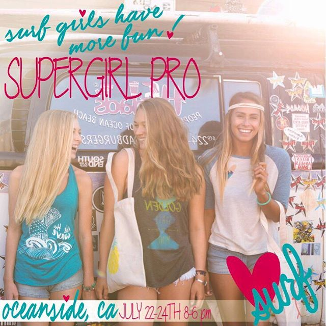 Super Girl Pro surf contest is back in Oceanside this year! @supergirlpro Come check it out next Friday-Sunday July 22-24 for an action packed weekend! Stop by the Luv Surf booth for a free trucker hat we'd Luv to see ya!! #surfcontest #oceanside #pier...