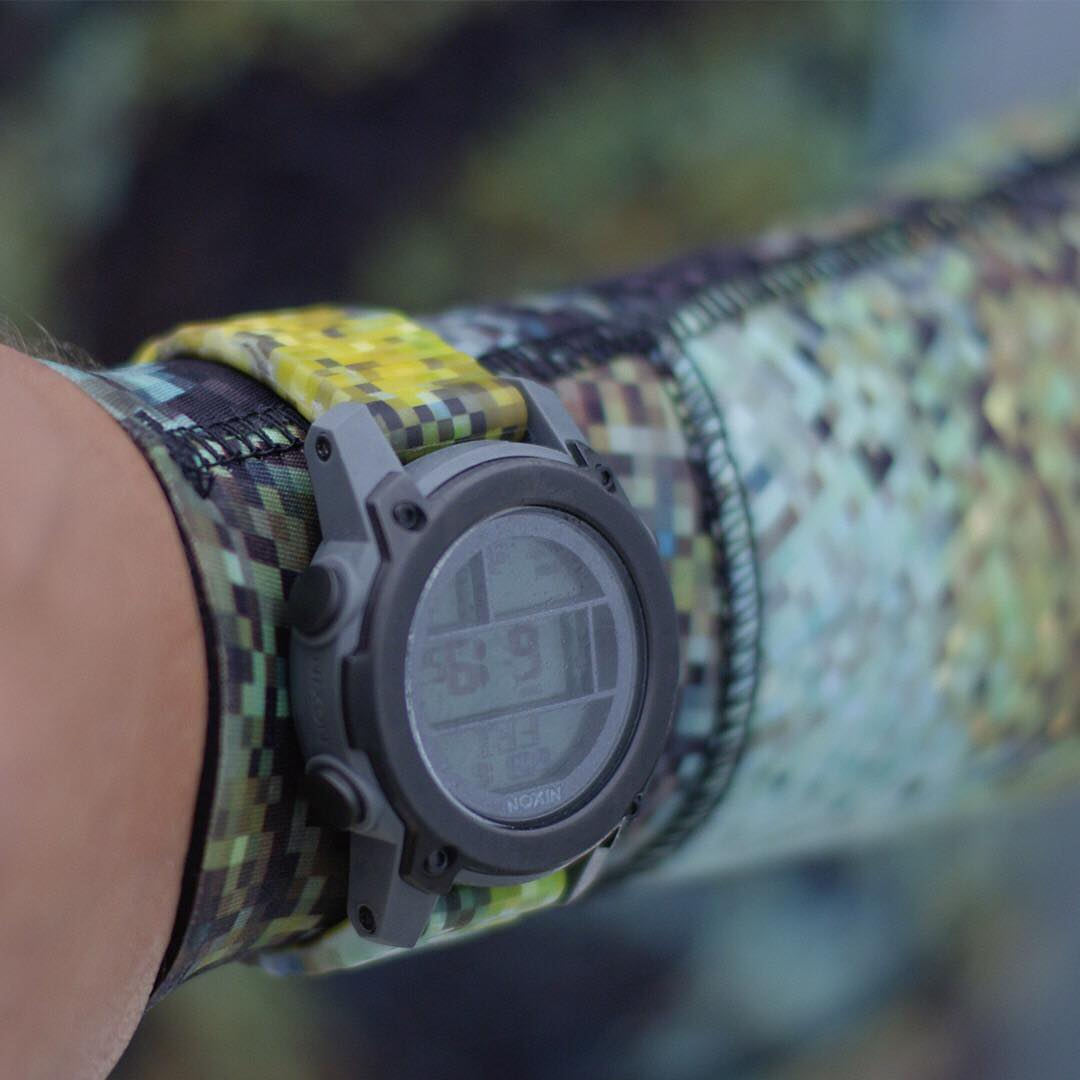 A true camo. The patterns of the #Riffe #DigiTek camo vary based on where it is placed on the watch, making each timepiece unique. Available now at Nixon.com.