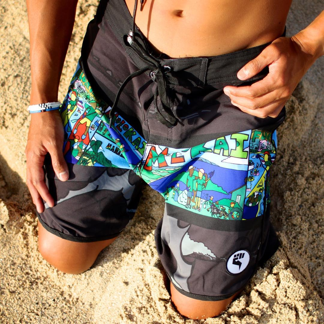 Don't forget to keep the beaches clean this weekend! | Get your noRep x @sustainablecoastlineshawaii x @aaroncharart boardshorts today at norepboardshorts.com #inspiredboardshorts | Photo: @lofaka