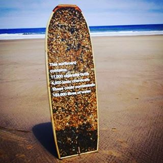 #Eeek-O-Board edition:  It took 17,000+ used cigarette butts, containing a mix of ~4,000 toxic chemicals...and the creative hands & mind of @lucasfsantoss to make a fully functional (and totally  disgusting) surfboard, out of the most common type of...
