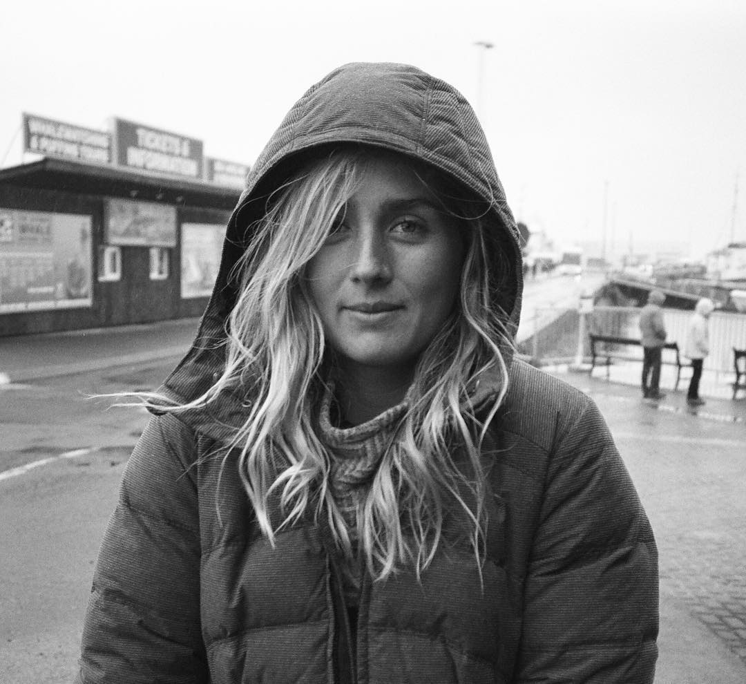 "A California girl's first experience with ""sleet"" out on a dock in Iceland last April, captured by @markomcinnis on his film camera"
