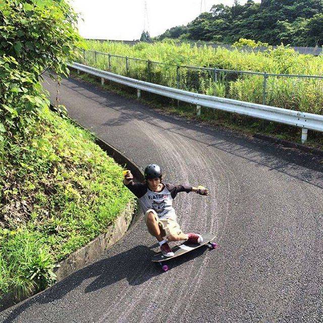 Charging on new found roads, @sho_ouellette is out in Japan. The locals have been taking him to the spots and he's on a mission to shred them to pieces.