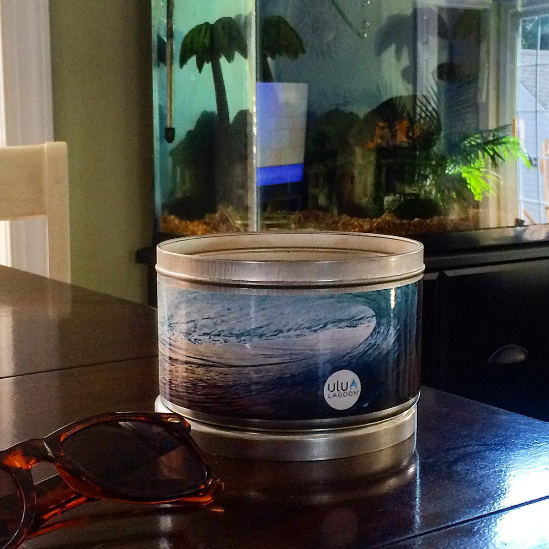 """The huge original coconut scent throw and cool coastal look of the photo series will really pack a punch of fragrance and style to your coastal abode! """"NJ"""" by Ryan Struck (shown) at Brain's in New Jersey."""