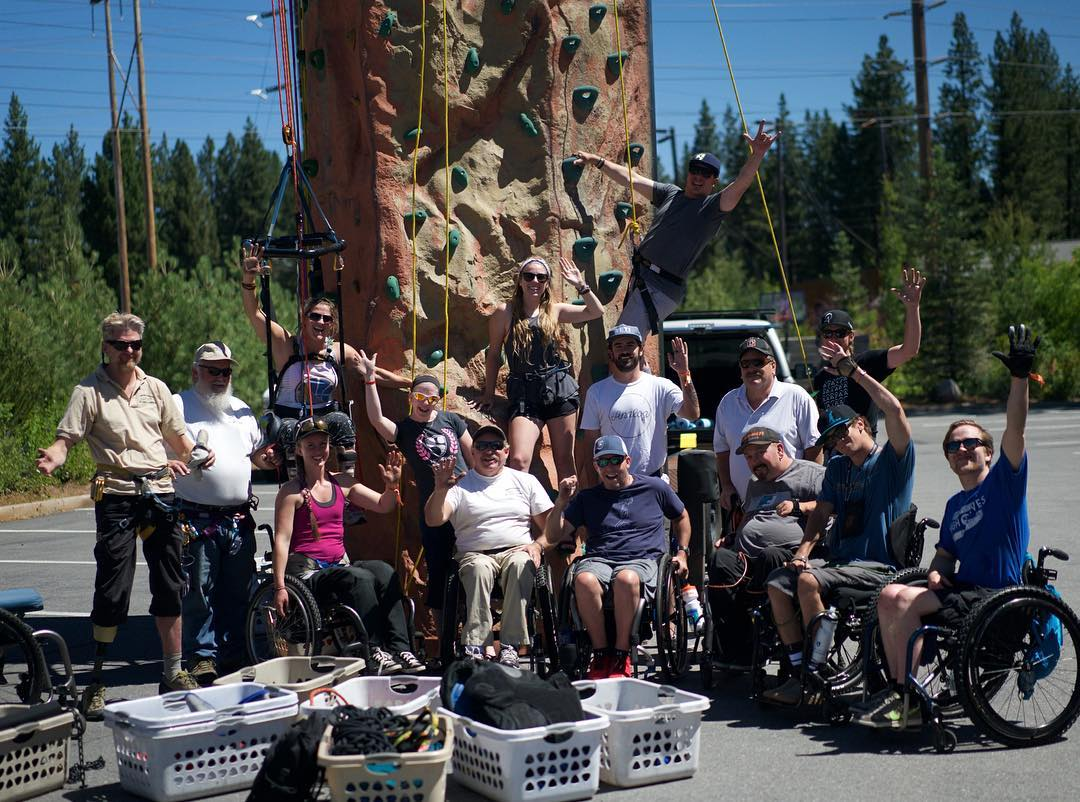 #GoPro capturing greatness with Tahoe Adaptive Competition Center and #markwellman for some adaptive rock climbing with amazing #highfivesathletes