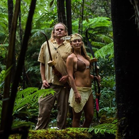 Mahalo @cevichedave, the real #Tarzan, for teaching us all how to embody our inner hunger games! Twelve people with hand made bow and arrows made by Dave, hunting recycled boogie boards in the forest was pretty classic! Archery is such an incredible...