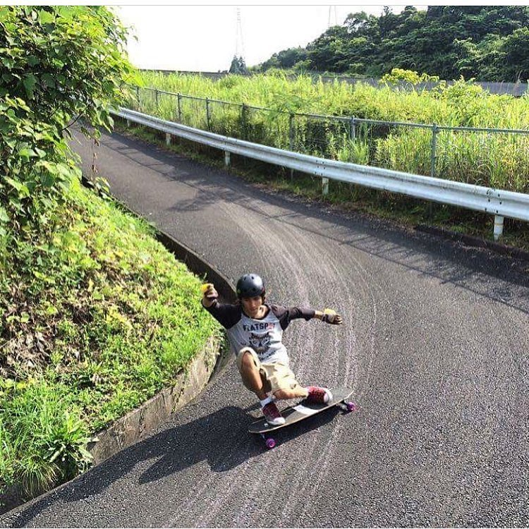 Regram @skatehousemedia of @sho_ouellette skating his grandparents driveway in Japan. Sho wears the S1 Lifer Helmet. #japan #biginjapan #s1helmets #s1downhill #valhallaskateboards