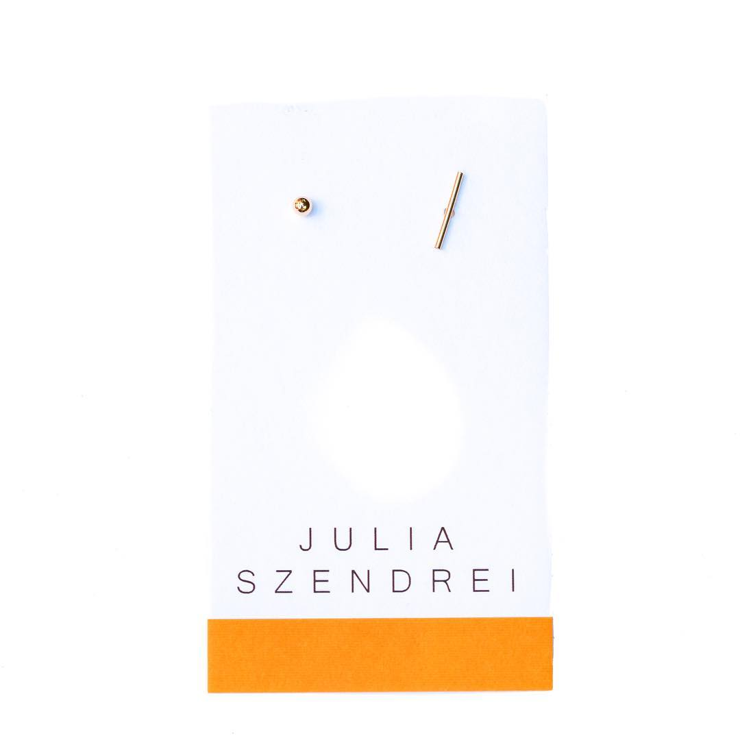 Small-Medium-Large Line&Circle Shape Studs.  #line #lines #solid #gold #14k #juliaszendrei