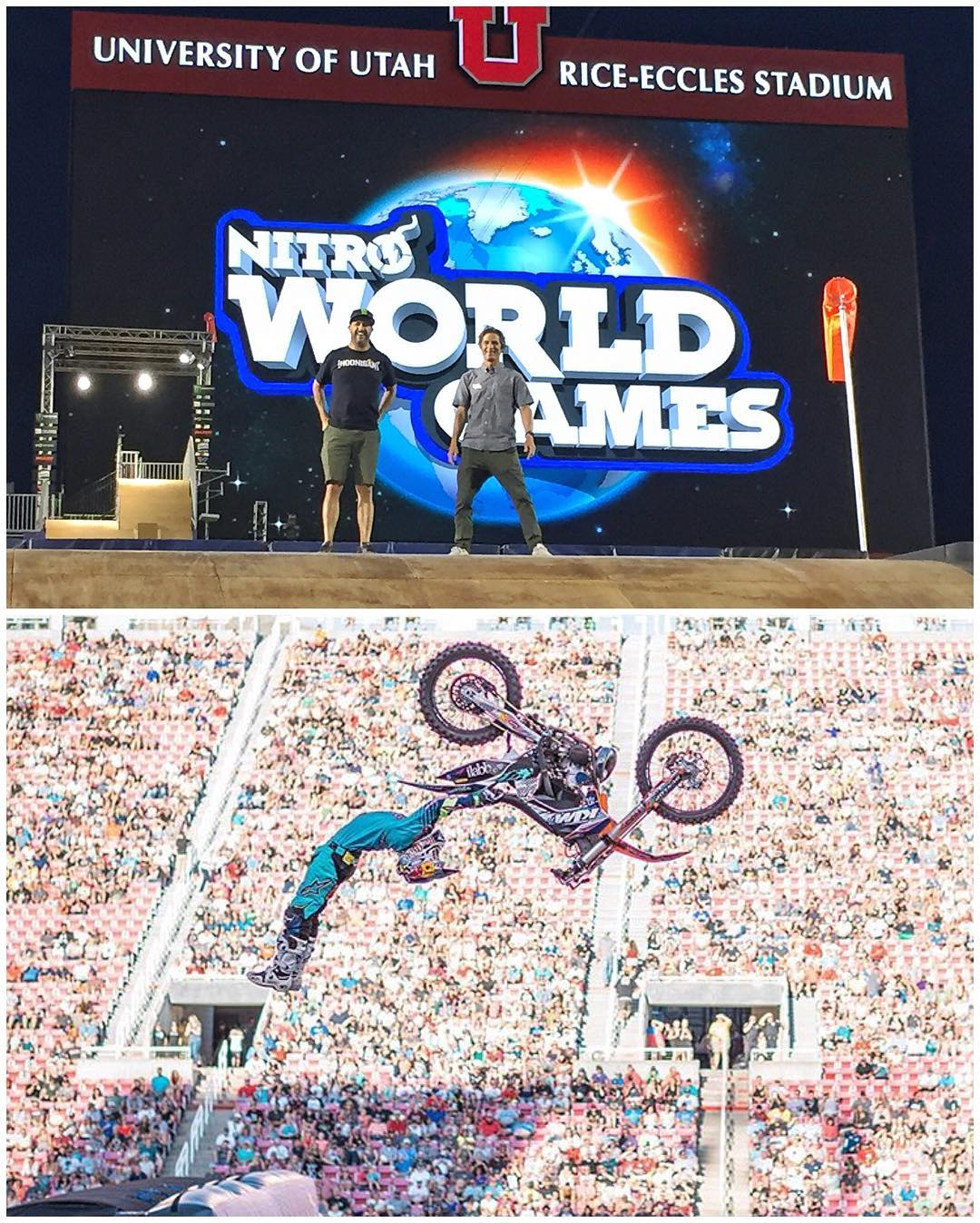 Last night's amazing entertainment: the @NitroCircus #NitroWorldGames in Salt Lake City! Not only did they put on an awesome show, but everyone's riding was beyond insane: triple flips in BMX, double front flips and double backflip variations in...
