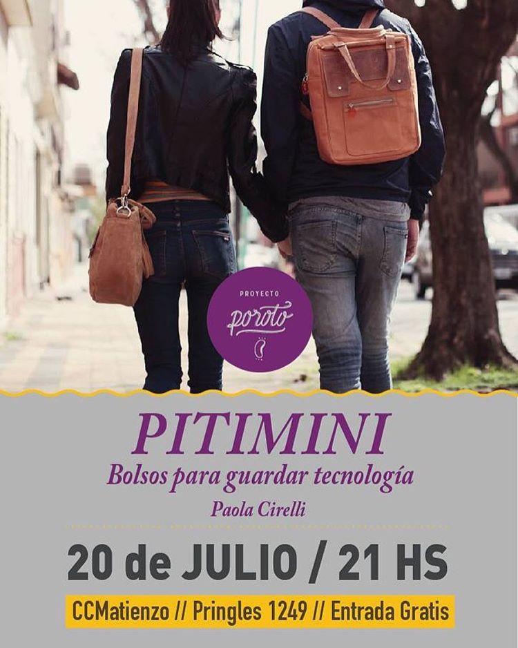 Este miércoles 20 de Julio! Presento #Pitimini en el CC Matienzo!! Vengan! @ccmatienzo