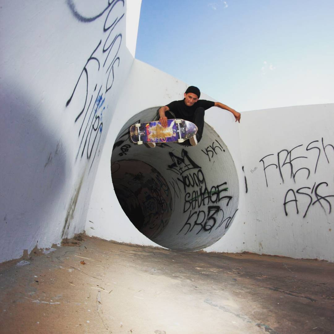 Team rider Sean Stratmeyer--@kurkylurk666 blasting out of the full pipe on the Spunk!