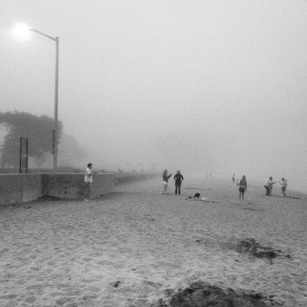 Awesome fog at Dane Street Beach tonight. #oceanfog #fog #danestreet #beach #beverlyma
