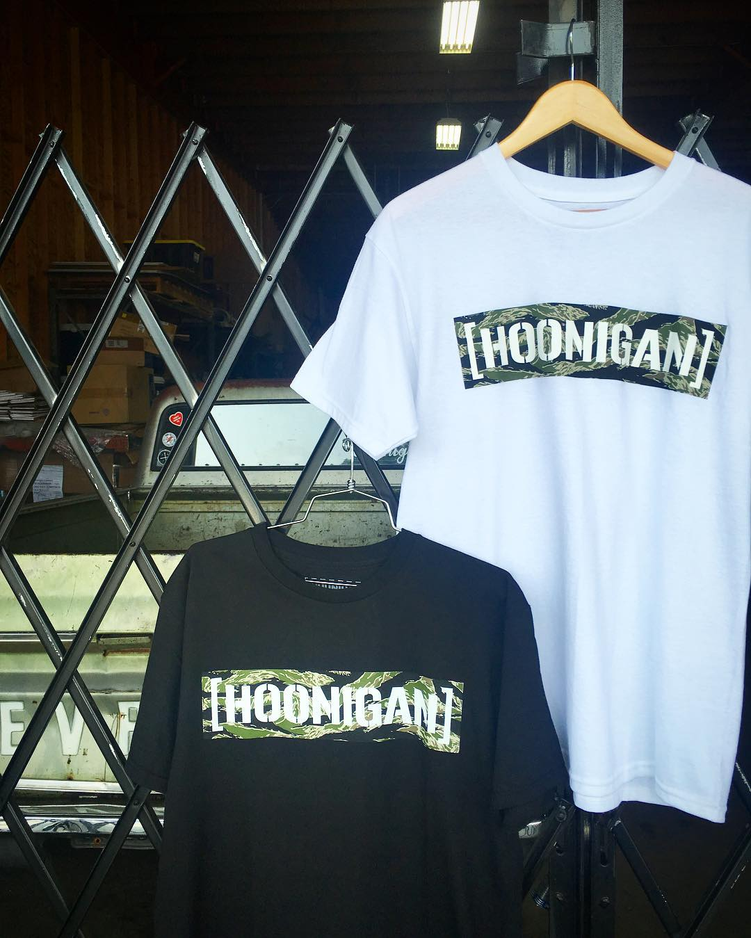 Check out what's new on #hooniganDOTcom! We stocked our shelves with new gear, like these Tiger Camo tees. Hit the link in the bio. #supporthooniganism