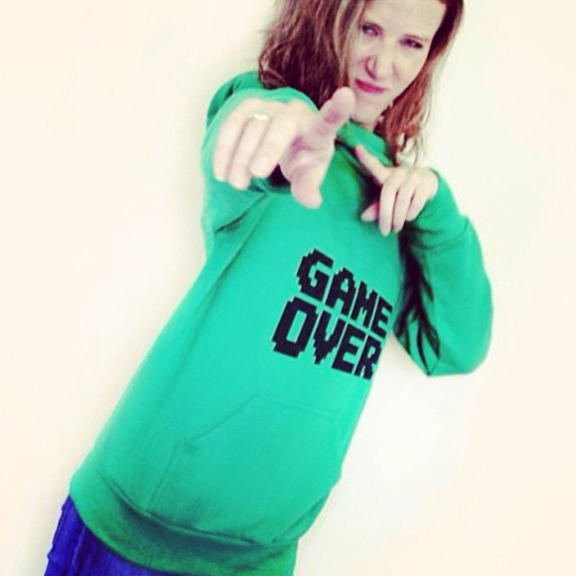 GAME OVER bitch! #gameover #fashion #girls #green #design #pixelart #pixel #game #hoodie #urbanlife #urbancheras #stamp
