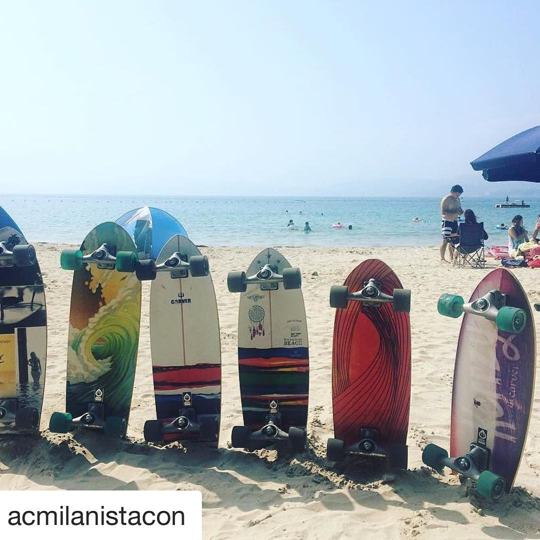 #Repost @acmilanistacon with @repostapp ・・・ Skating along the beach is so nice !!! #carver #carverskateboards #skateboarding #sk8 #outdoors #beach #gozashirahama #iseshima #mie #japan