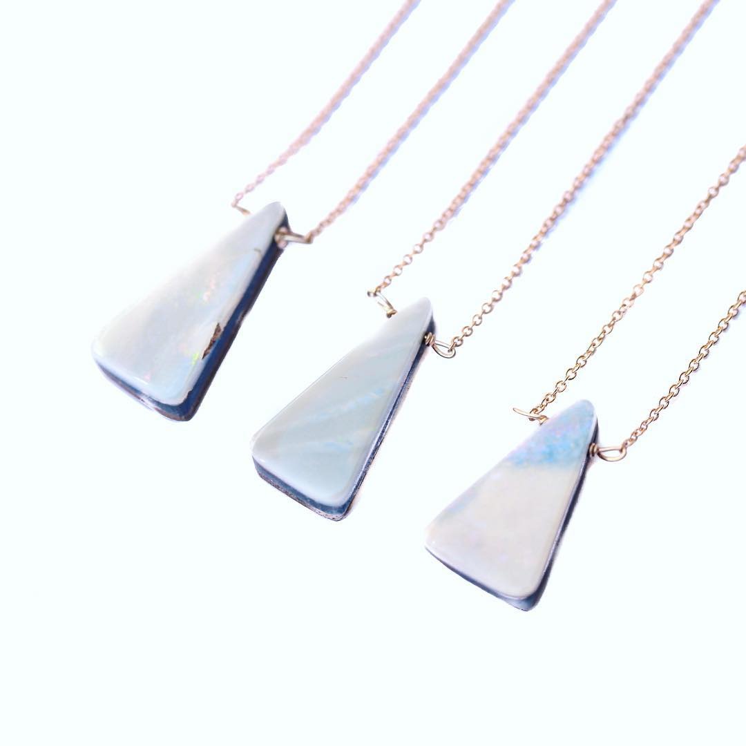 Triangle Opal Necklaces are on the loose! Layer and create something magical you can channel each day. Illuminate your inner spirit, because let's not forget who you really are inside of the everyday routine. I was pleasantly reminded of how much I...