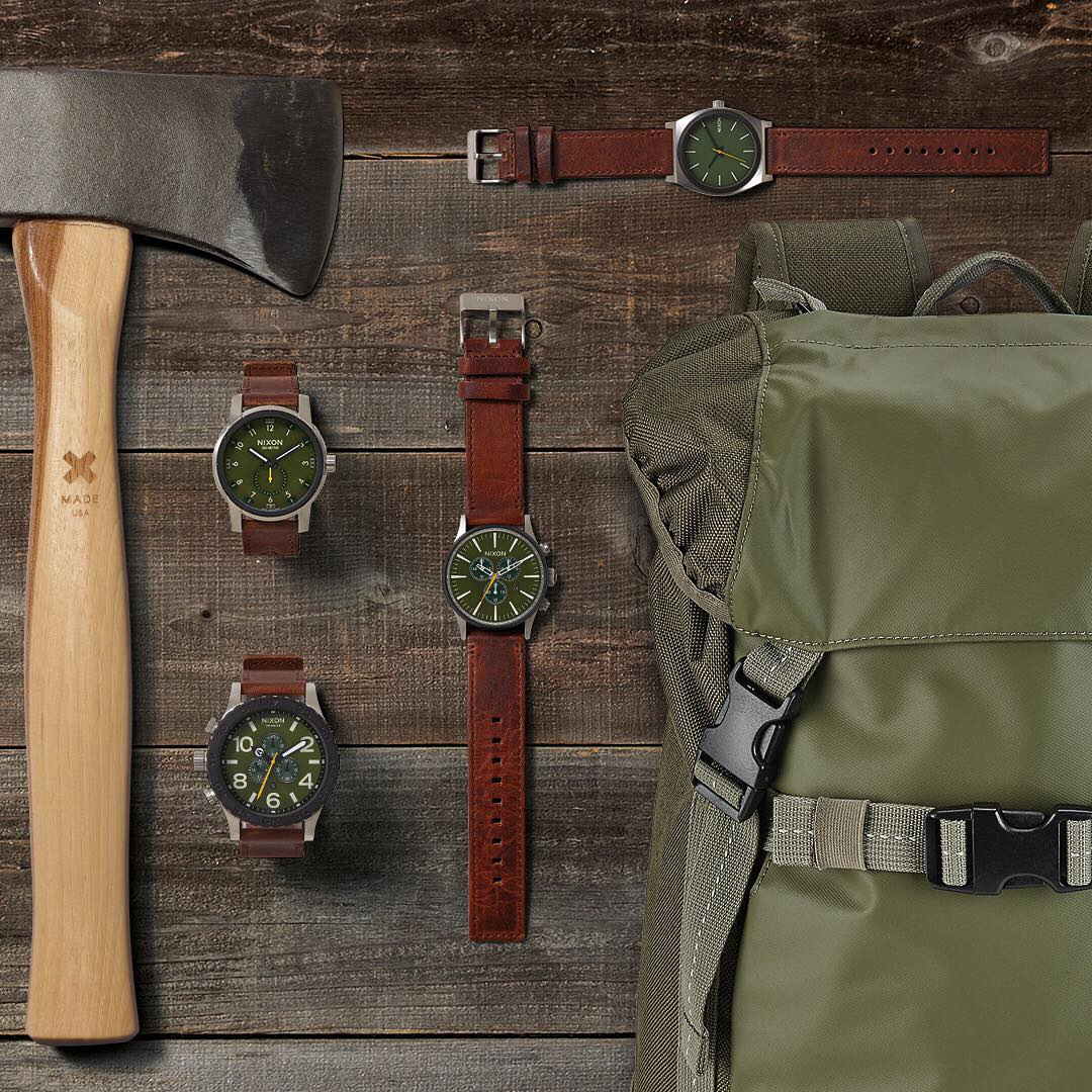 Set forth. The Timberline Valley Collection evokes the spirit of the outdoors in some of our favorite timepieces and accessories. #Nixon