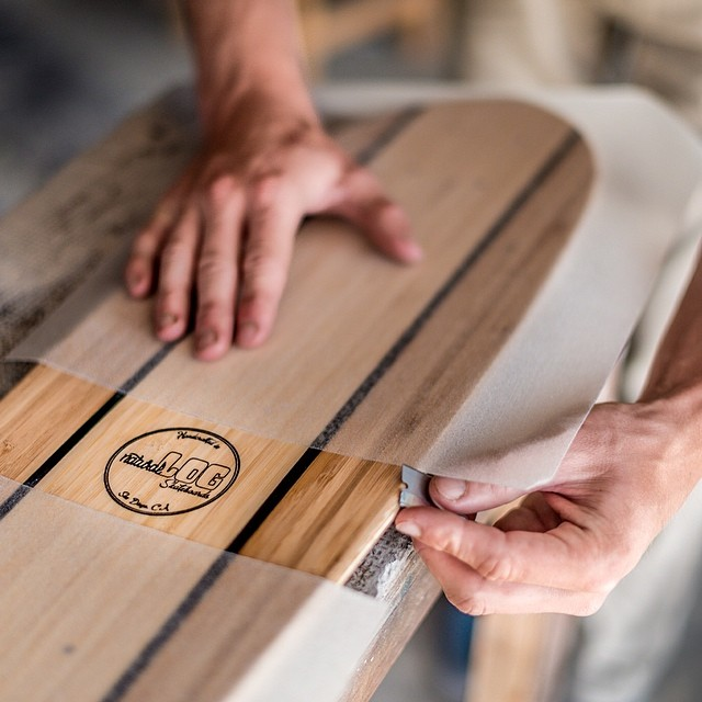 Nothing like setting up a freshie for spring! Get yours at www.naturallogskate.com #naturallogskateboards #handcrafted #bamboo #cruiser #skateboard