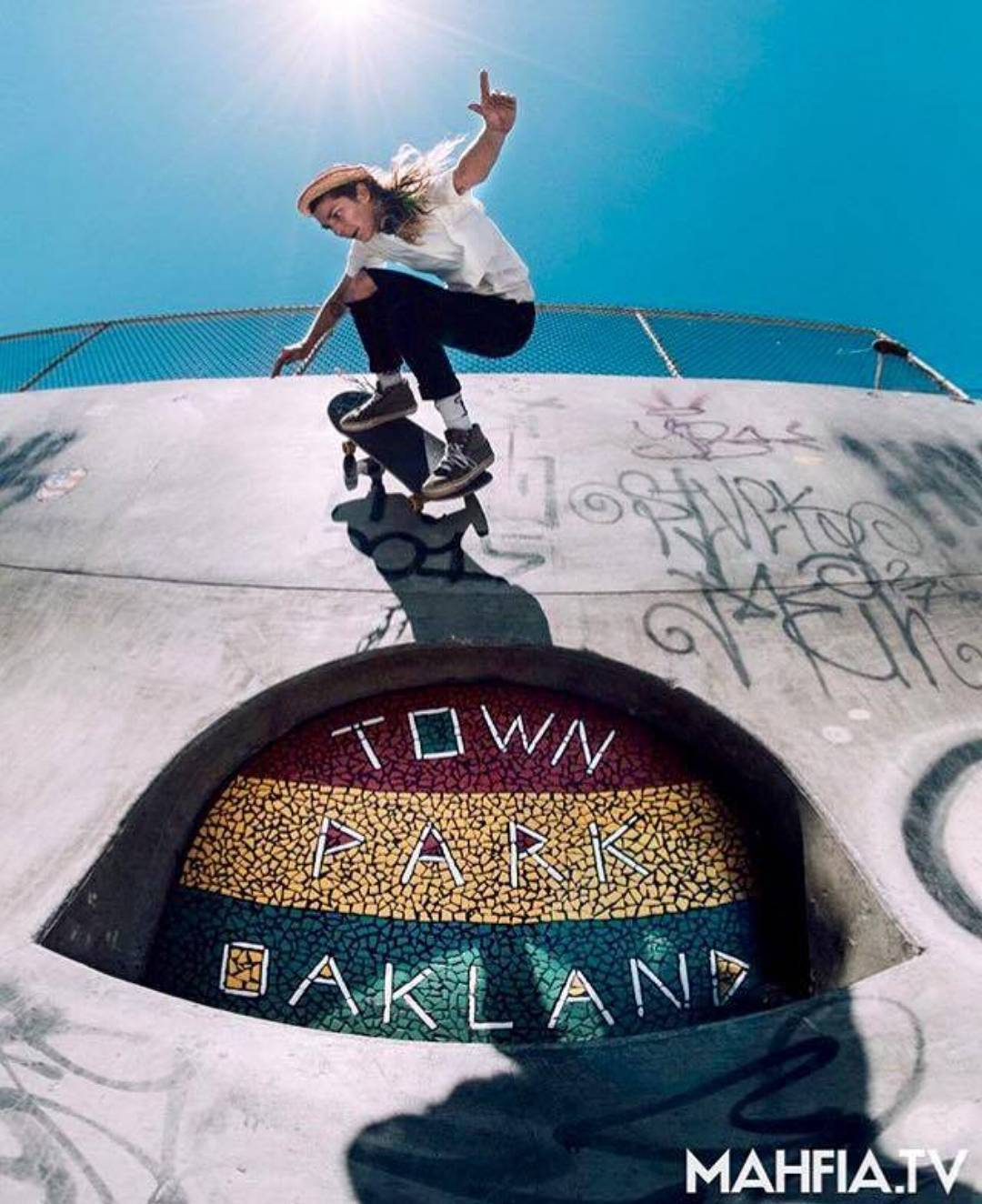 We are loving this shot of @chloyeahbernard_suzzies from the Oakland Girls Skate Session! Repost from @mahfia_tv :: photo by @zoraholivia