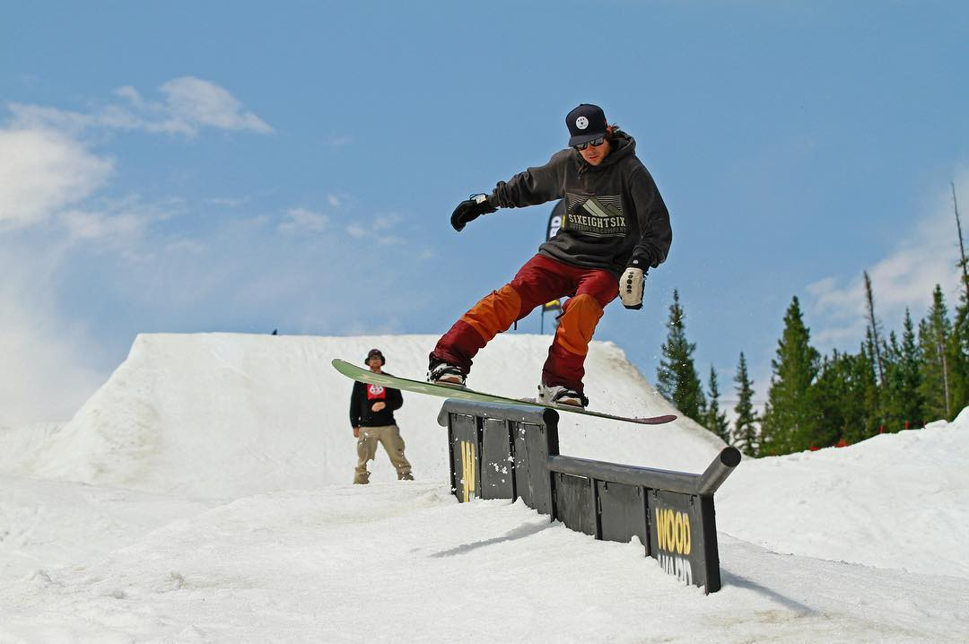 Flux rider, Mike Gray @mikeegray it out... during some summer shreds. #fluxbindings #snowboard #snowboarding ❄️