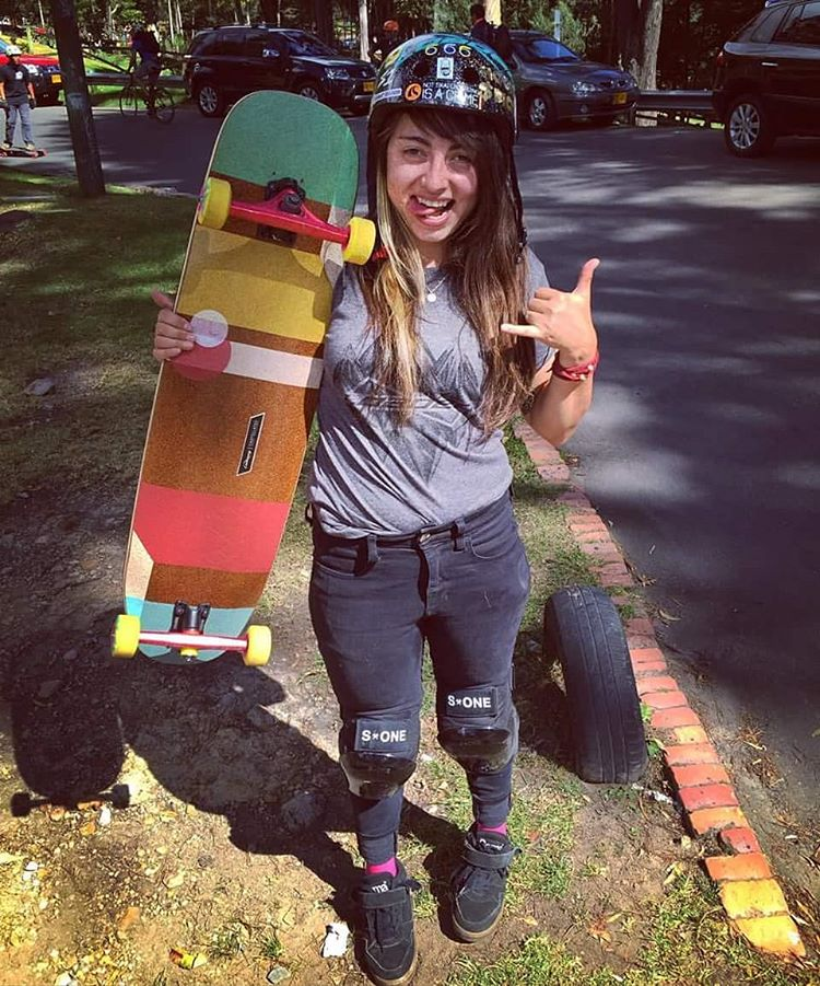 """It is amazing news to hear that @chelagiraldo is moving along with healing from a broken femur and is now getting back on her board after 4 months of lurking like a she-boss.  Excited to see you tear up the roads again Chela! """"After 4 months with a..."""
