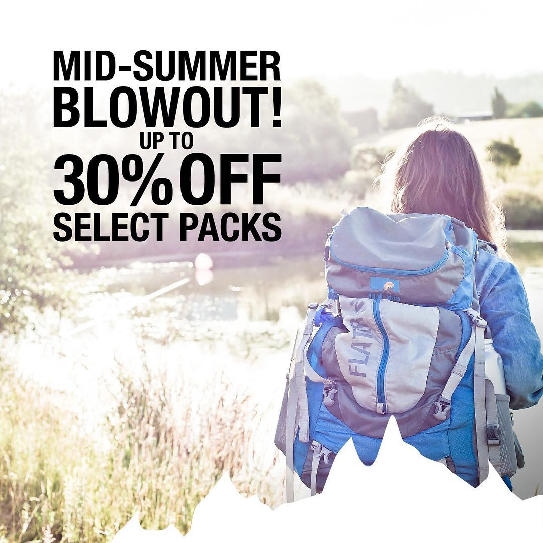 MID-SUMMER BLOWOUT! This one's for the procrastinators, cause why should the people that are always on top of seasonal sales get all the deals? For the foreseeable future we're offering up to 30% OFF select packs... Ummm, so what are you doing still...
