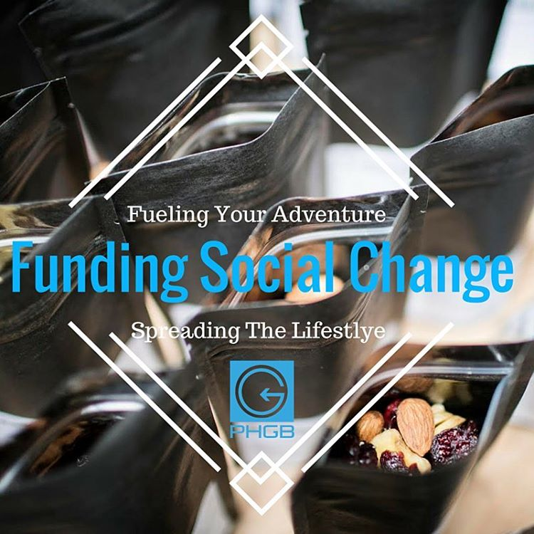 Let's make the world a better place.  PHGB funds social change with every purchase of our tasty snacks!  #challengeaccepted