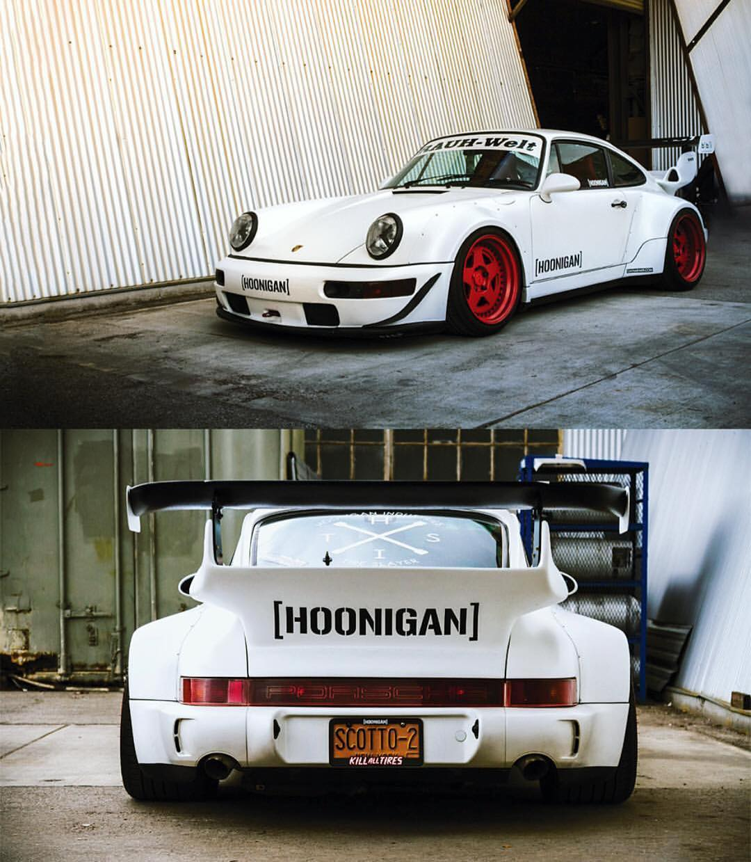 Fun fact: @brianscotto's 964 Turbo aka the #RWBxHOONIGAN was one of the first two RWBs built in the states (the other has been remixed) and has plenty of ponies to back up them wide hips and aggressive aero!