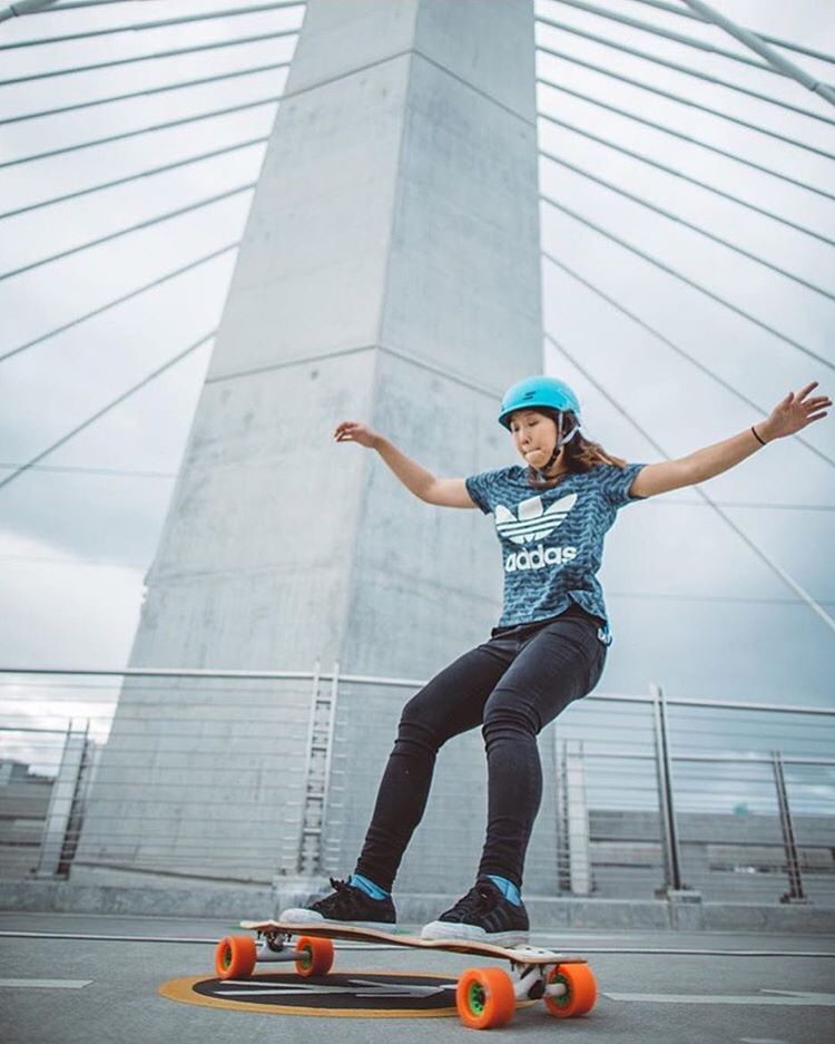 Good morning fam! How's everyone doing?  Here's LGC Canadian Ambassador @iamcindyzhou flowing for @cousincarlton's lens. Check out his project @skatography!  #longboardgirlscrew #womensupportingwomen #skatelikeagirl #lgccanada #skatography #cindyzhou...