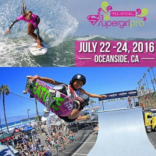 Make sure you head over to @supergirlpro this weekend!! There will be tons of skating and surfing to watch plus @kendra.sebelius will be talking about GRO on Saturday at 12:45