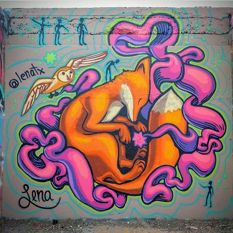 @lenatx • • #ATX #austinitx #texas #tx #spratx #art #painteverything #fox
