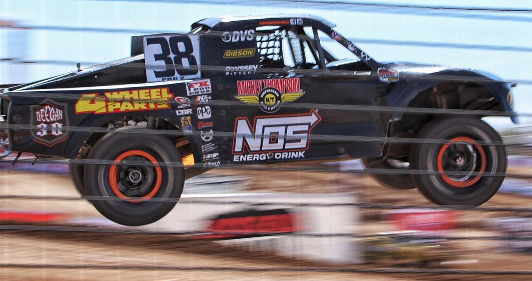 We are giving away 4 tickets for @lucasoiloffroad races! 2 for Saturday. 2 for Sunday. There will be two winners. All you have to do is repost a photo of my @nosenergydrink Pro2 race truck using hashtag #deeganpro2