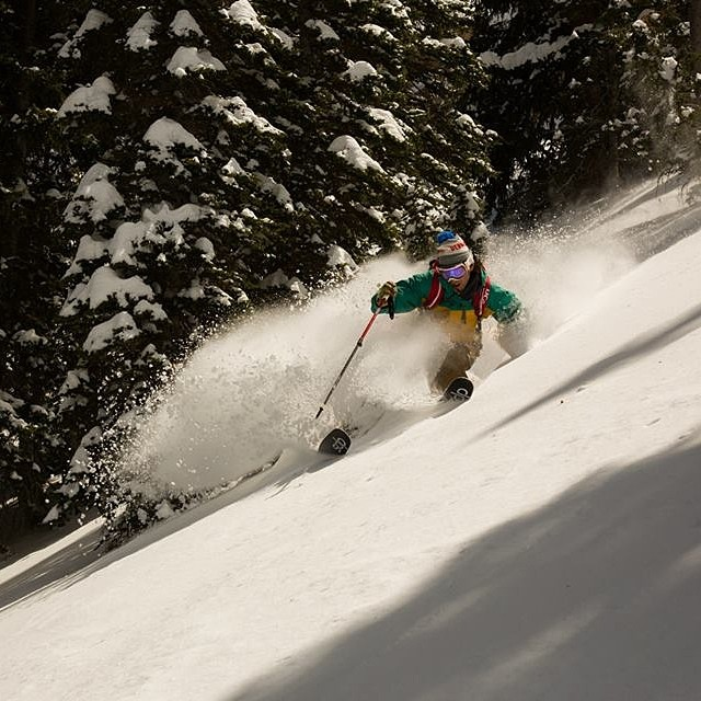 The last few days in the #Wasatch have been all-time. While the calendar points to May, it felt like February touring around the range. @cheathski catches @ermepowskier in a #powder euphoria. #dpsskis