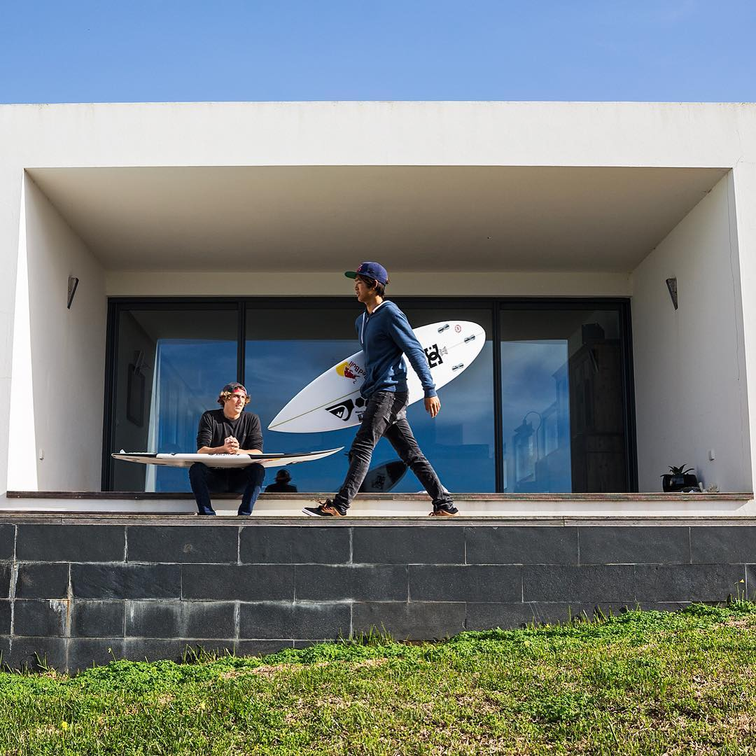 @lfioravanti & @kanoaigarashi get together before an afternoon surf session. Keep up with the DC Surf team at: dcshoes.com/surf. @dc_surfing #dcshoes #dcsurf #dclegendaryfuture