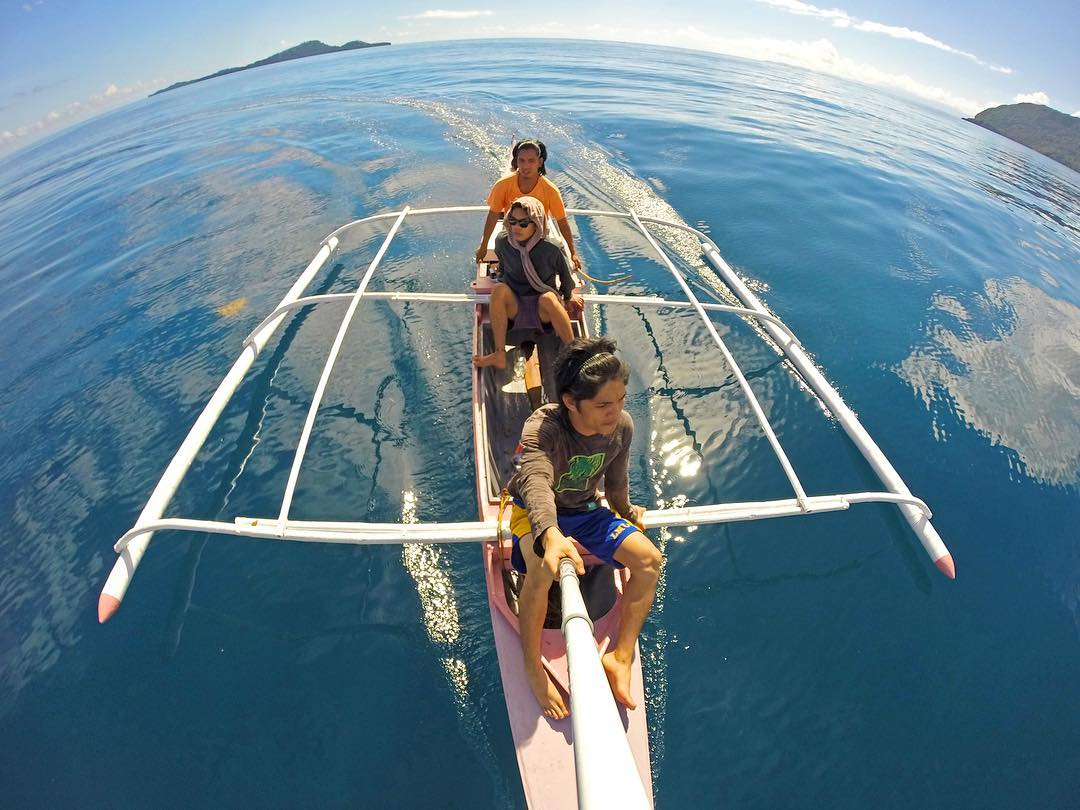 @max_feji and crew cruising the open water near Hinunangan, So. Leyte in the Philippines. Shot with GoPro HERO4 and GoPole Reach. #gopro #gopole #gopolereach #philippines