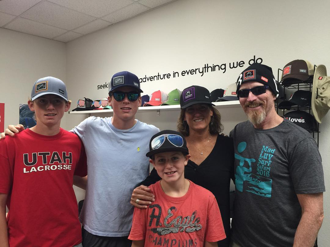 The #LynchFamily getting #SoHatted at the @bigtruckbrand Hat Bar in Truckee's #PioneerCenter!!! @johnlynch1964 @cindylynch2530 #MadLuv