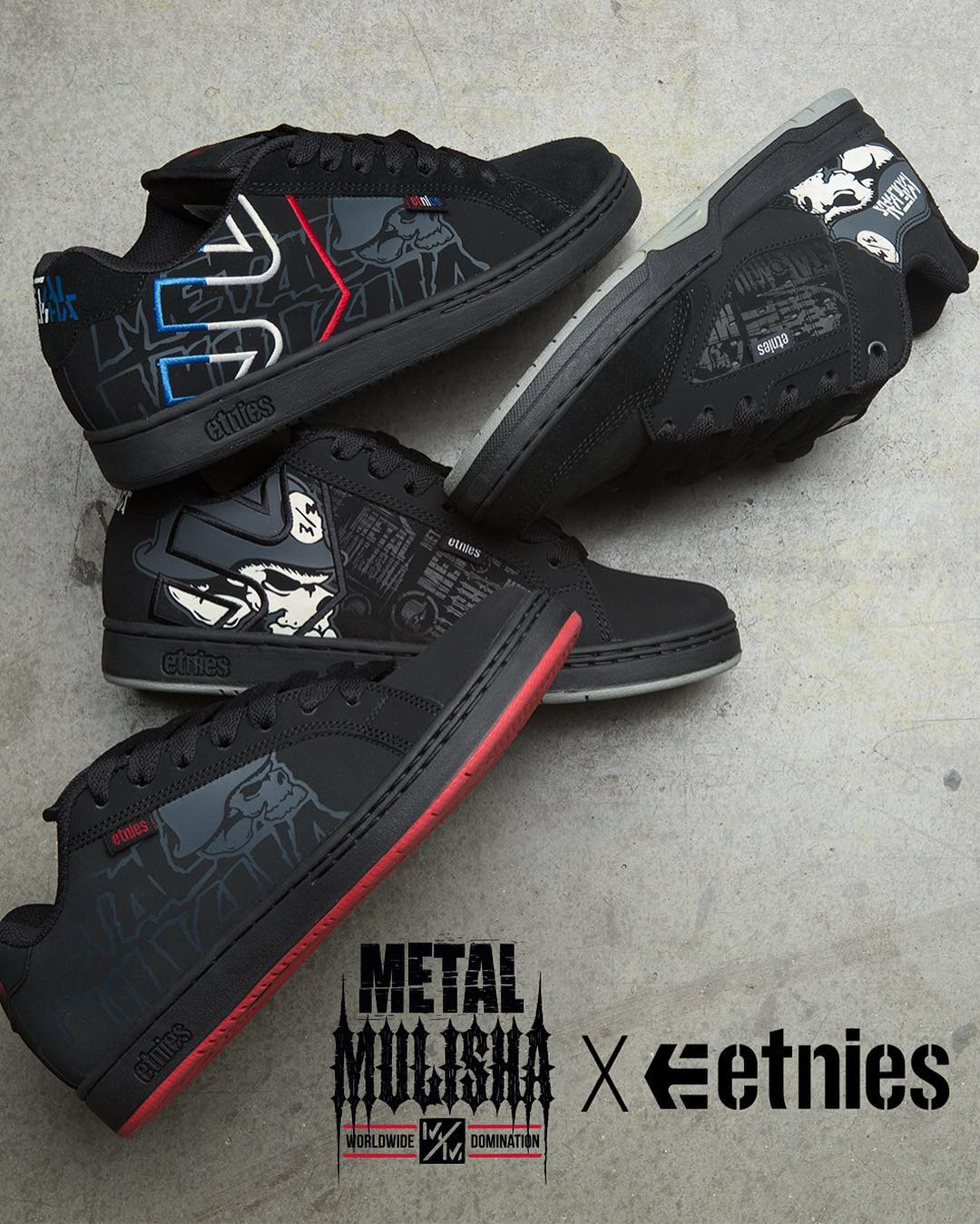 The new batch of @MetalMulisha ✖️ @Etnies are in