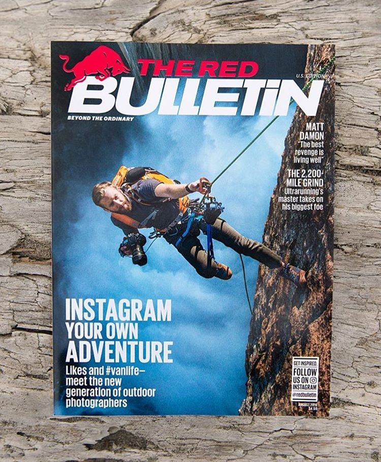 Huge props to @travisburkephotography for nailing a feature in the latest @redbulletin as the talent for a change!