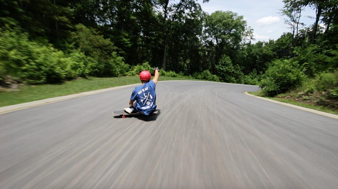 Flow team rider @joey_exton recently made a trip to North Carolina where he spent most of his time up in the hills enjoying the buttery pavement.  #paristrucks