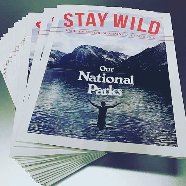 STAY WILD IN THE PARKS love supporting @staywildmagazine - be sure to pickup a copy as they did a darn good job in celebrating the parks in their summer issue. #nps100 #nationalparks #radparks