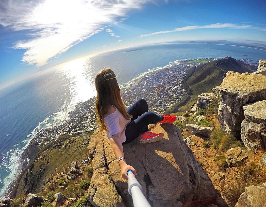 @tuunde selfies on top of Lion's Head in Cape Town, South Africa. Shot with GoPro HERO4 and GoPole Reach. #gopro #gopole #gopolereach #lionshead #capetown