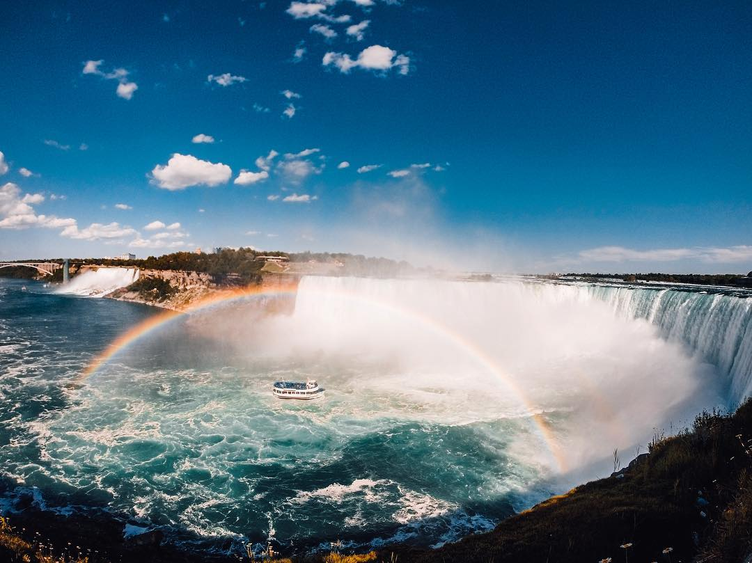 Photo of the Day! Epic #NiagaraFalls has clearly captured our hearts (see our video post earlier today). Props to Tony Manfrom for capturing this icon. #RainbowLove #Ontario #BucketList #NationalTreasure #MustVisit #GoProTravel
