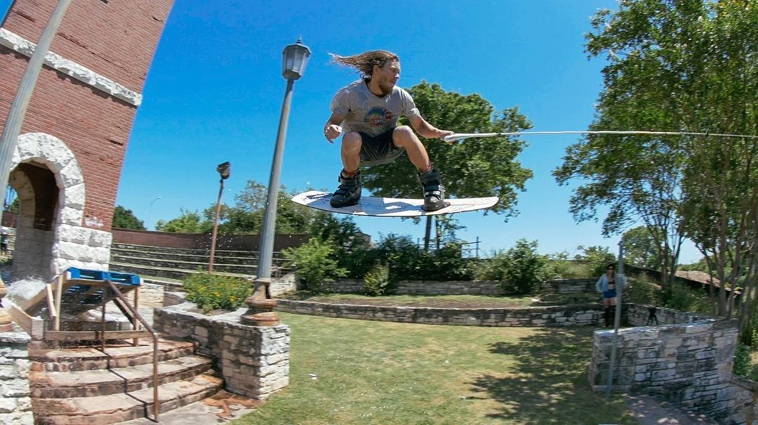 @Chris_Abadie • Athens, Texas • 28 years old • Goofy stance • Slingshot Wakeboards  Click the link on our profile page to check out his #RealWake edit! (