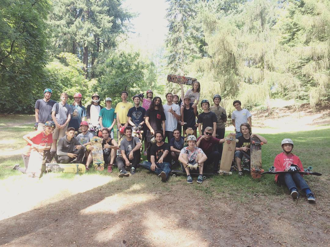 the crew pulled through heavy today in Portland for the @daddiesboardshop demo. thanks to everyone for coming out!