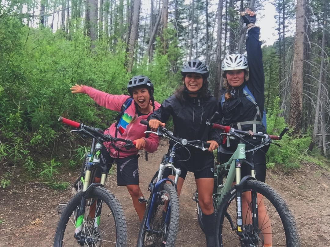 How are you enjoying your summer? • • Our social media gal @rblums hits the trails with as many pals as possible to keep the snow sliding desire at bay.