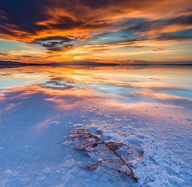 The Great Salt Lake delivering another epic sunset