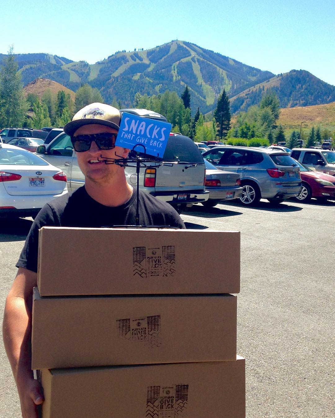 #internBk on that daily grind delivering product to local Sun Valley and Ketchum shops.  Life is tough... #snappingnecksandcashingchecks